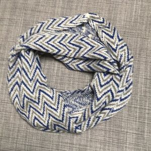 Accessories - Cozy blue, gray and white Infinity scarf